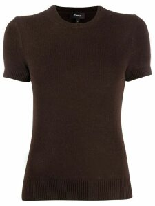 Theory short sleeve fine knit top - Brown