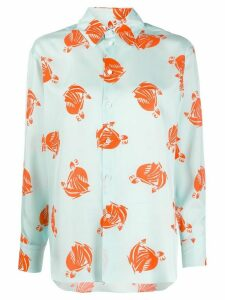 LANVIN Mother and Child printed shirt - Blue