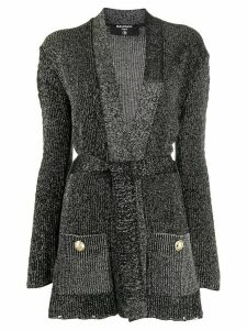 Balmain lurex knit cardigan - Black