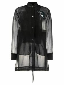 Diesel elongated organza shirt - Black