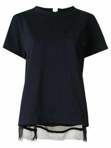 Sacai open back T-shirt - Blue