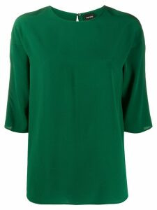 Aspesi silk 3/4 sleeve blouse - Green