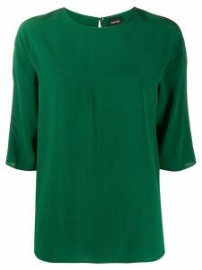 Aspesi silk 3/4 sleeve blouse - Green