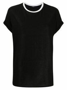 Balmain contrast crew neck T-shirt - Black