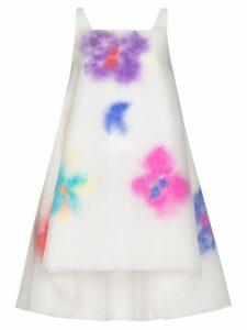 Susan Fang layered floral-print mini dress - White