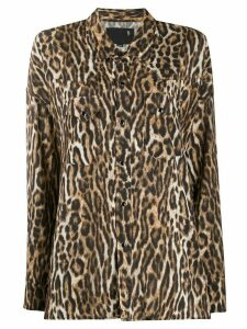 R13 leopard print shirt - Brown