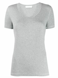 Fabiana Filippi short-sleeved ribbed T-shirt - Grey