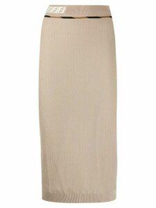 Fendi woven mesh skirt - NEUTRALS