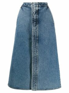 Stella McCartney high waist denim skirt - Blue