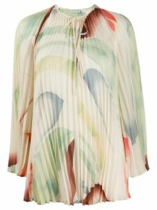 Etro abstract blurred print blouse - NEUTRALS