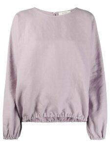 Áeron loose-fit crew neck blouse - PURPLE