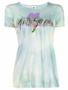 M Missoni embroidered logo T-shirt - Blue