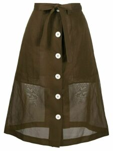 Eudon Choi Manet a-line organza skirt - Brown