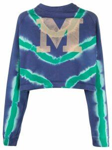 M Missoni tie-dye logo top - Blue