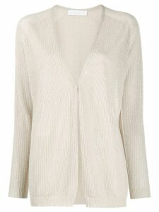 Fabiana Filippi textured knit cardigan - NEUTRALS