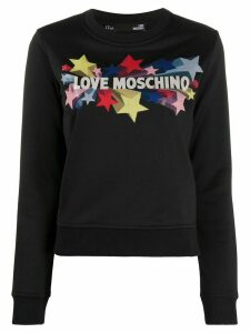 Love Moschino star print regular-fit sweatshirt - Black