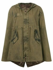 Mr & Mrs Italy reversible hooded cape - Green