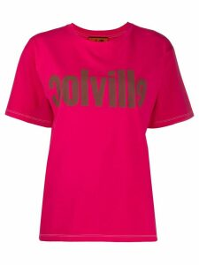 colville logo print cotton T-shirt - PINK