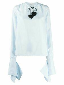 LANVIN heart-detail blouse - Blue