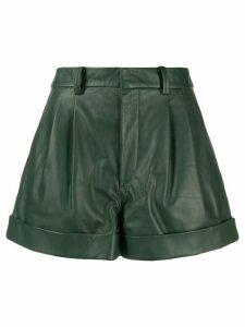 Isabel Marant Étoile pleated high-waisted shorts - Green