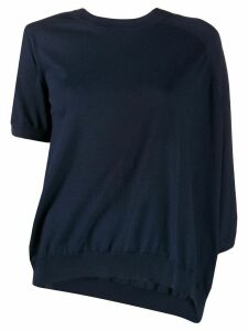 Maison Margiela asymmetric knitted top - Blue