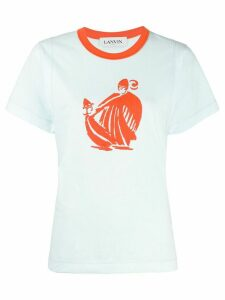 LANVIN Mother and Child print T-shirt - Blue