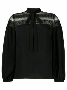 RedValentino lace-panel blouse - Black