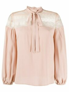 RedValentino lace-panel blouse - PINK