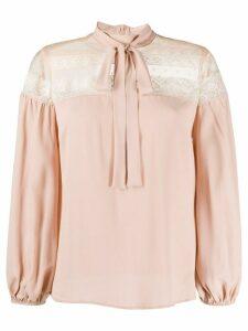 RedValentino lace-panel blouse - PINK