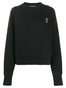 Ami Paris embroidered logo sweatshirt - Black