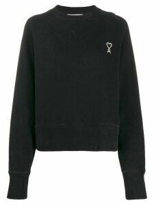 Ami Paris embroidered logo sweatshirt - Black
