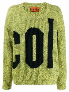 colville logo ribbed knit jumper - Yellow