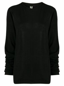 Rick Owens cut-out detail fine knit jumper - Black