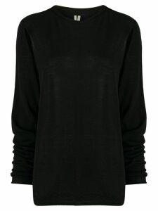Rick Owens cut-out detail fine knit jumper - Black
