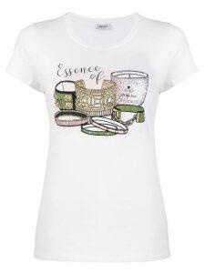 LIU JO graphic print slim-fit T-shirt - White