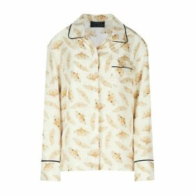 Louise Coleman - Ivory Moths Silk Shirt
