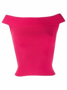 Alexander McQueen off-the-shoulder cropped top - PINK
