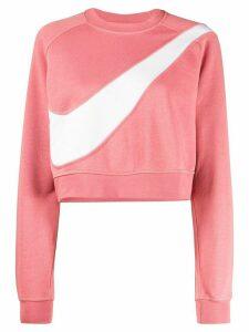Nike cropped Swoosh logo jumper - PINK