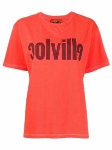 colville logo print cotton T-shirt - Red