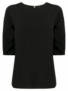 Aspesi silk straight fit blouse - Black