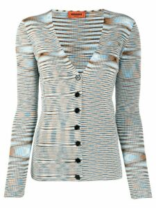 Missoni ribbed abstract knit cardigan - Blue