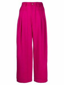 Koché tapered loose fit trousers - PINK