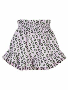 Cynthia Rowley Birdie smocked flutter shorts - PURPLE
