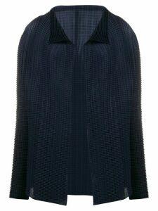 Issey Miyake pleated draped cardigan - Blue