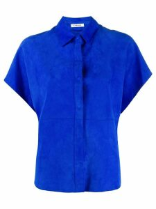 P.A.R.O.S.H. textured panelled shirt - Blue