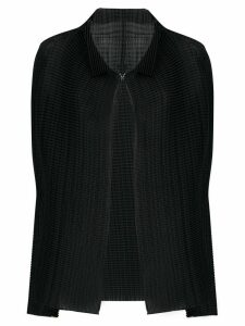 Issey Miyake pleated draped cardigan - Black