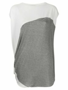 Stefano Mortari oversized striped T-shirt - White