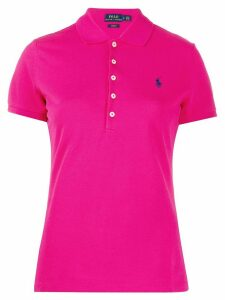 Polo Ralph Lauren logo embroidered polo shirt - PINK