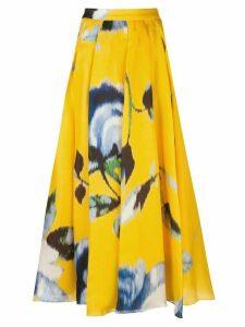 Carolina Herrera floral print A-line skirt - Yellow