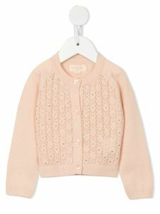 Tutu Du Monde Crystal Clear diamond pattern cardigan - PINK